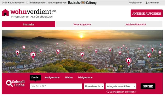 badische zeitung fiare real estate portal