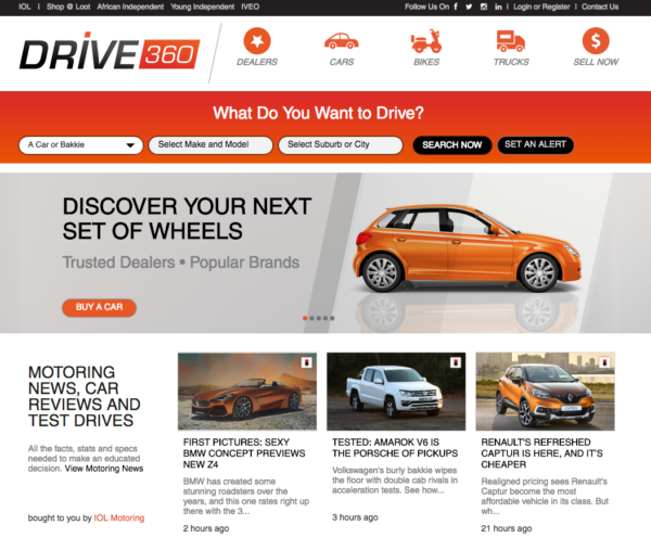 IOL Motoring launch classifieds site with Fiare