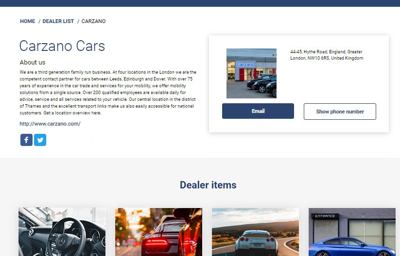 Vehicle Marketplace Platform