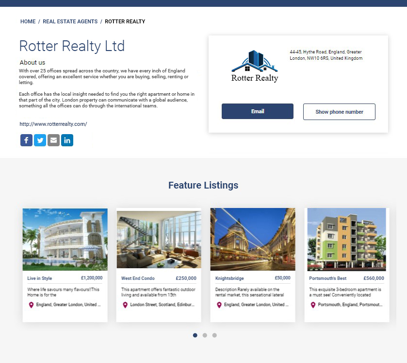 Real Estate Multi-vendor Marketplace